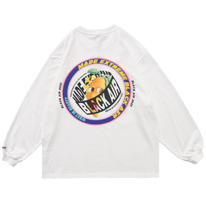 """REFLECTIVE CARROT"" PRINTED SWEATSHIRT"