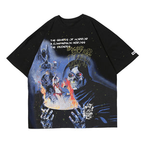 """SKULL DEVIL"" PRINTED T-SHIRT"