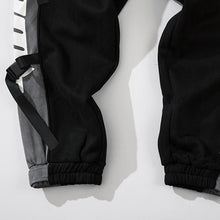 Load image into Gallery viewer, STITCHING STRAPS SUEDE JOGGERS