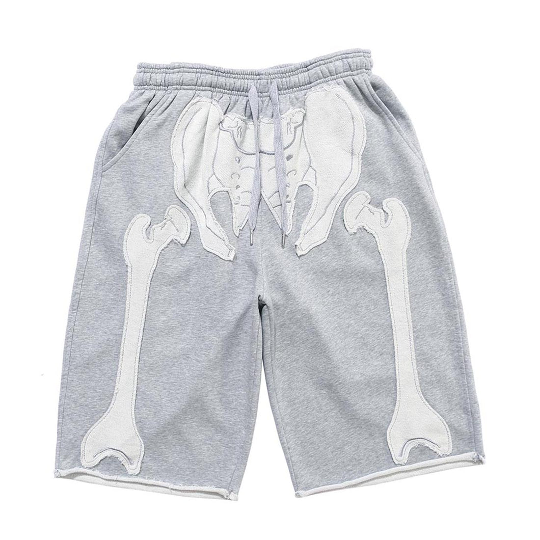 BONE EMBROIDERY SHORTS