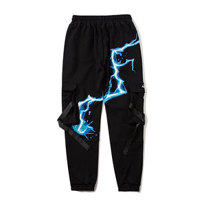 """BLUE LIGHTING"" PRINTED JOGGERS"