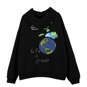 """PEACE EARTH"" PRINTED HOODIES"