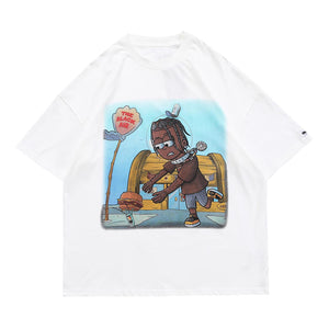 SPACE BOY PRINTED T-SHIRT