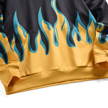 Load image into Gallery viewer, YELLOW FLAME PRINTED HOODIES
