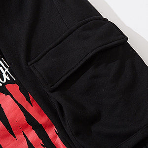 """DON'T TOUCH MY PHONE"" PRINTED JOGGERS"