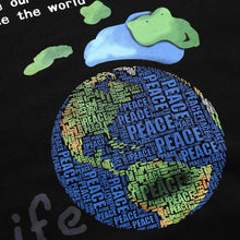 "Load image into Gallery viewer, ""PEACE EARTH"" PRINTED HOODIES"