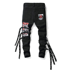 """DEVIL"" LACED UP SKINNY JEANS"