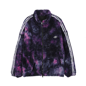 """STARRY"" PRINTED FLEECE JACKET"