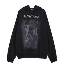 "Load image into Gallery viewer, ""SACREDNESS"" PRINTED HOODIES"
