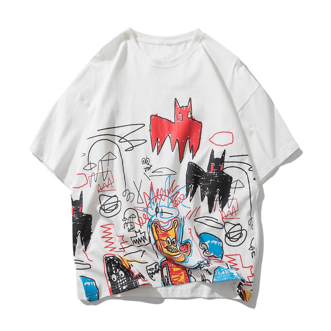 STREET GRAFFITI PRINTED T-SHIRT