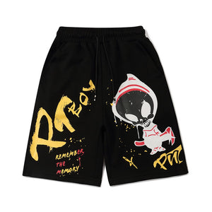 """ALIEN"" PRINTED SHORTS"