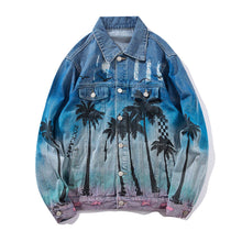 "Load image into Gallery viewer, ""COCONUT TREE"" DENIM JACKET"