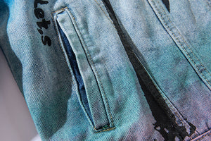 """COCONUT TREE"" DENIM JACKET"