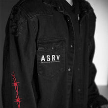 "Load image into Gallery viewer, ""ASRV"" DENIM SHIRT JACKET"