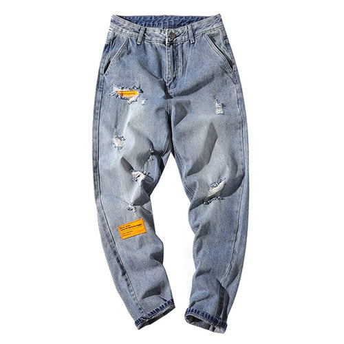 LABLE SHREDDED JEANS