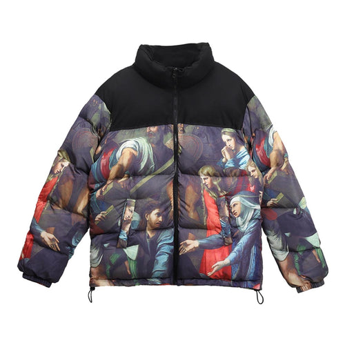OIL PAINTING FIGURES COTTON JACKET