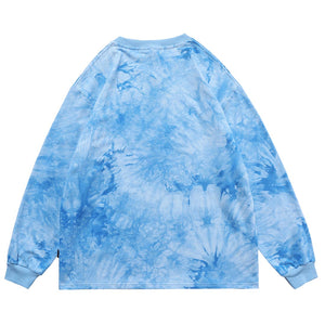 """BEAR"" TIE DYE GRAFFITI SWEATSHIRT"