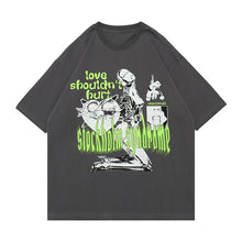 "Load image into Gallery viewer, ""LOVE SHOULDN'T HURT"" PRINTED T-SHIRT"