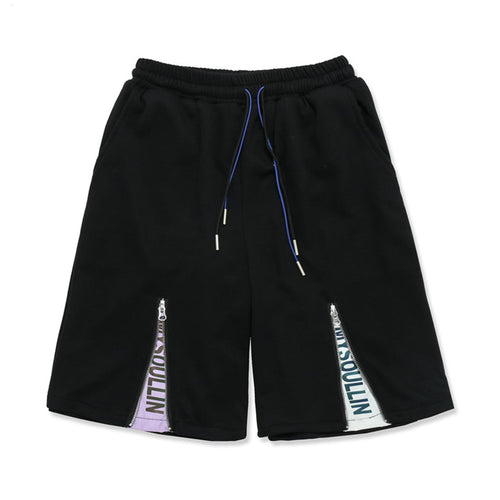 ZIPPERS PACHWORK SHORTS