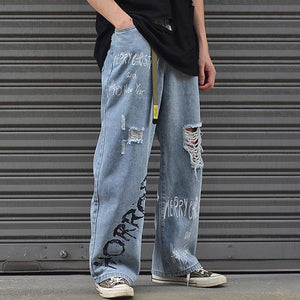 """HORROR"" LOOSE DAD JEANS"