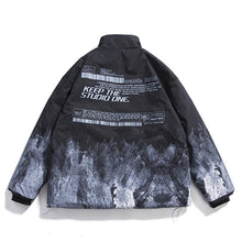 "Load image into Gallery viewer, ""SNOW MOUNTAIN"" PRINTED COTTON JACKET"