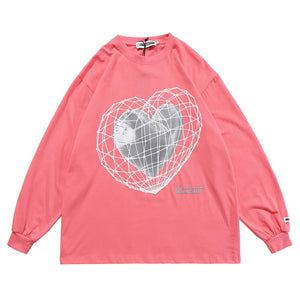 """3D HEART"" PRINTED SWEATSHIRT"