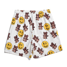 "Load image into Gallery viewer, ""BEAR SMILEY"" PRINTED SHORTS"