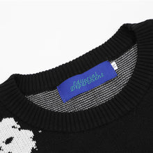 "Load image into Gallery viewer, ""PUNK"" PRINTED KNITTED SWEATER"