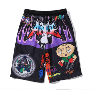 """CHAOS"" GRAFFITI SHORTS"