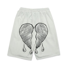 "Load image into Gallery viewer, ""BROKEN HEART"" PRINTED SHORTS"