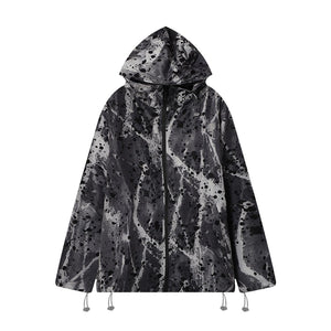 PRINTED LACQUER JACKET
