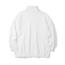 Load image into Gallery viewer, BLEEDING BEAR HIGH COLLAR KNITTED SWEATER