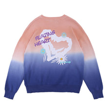 "Load image into Gallery viewer, ""LOVE"" PRINTED GRADIENT SWEATER"