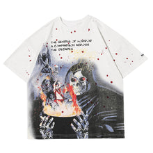"Load image into Gallery viewer, ""SKULL DEVIL"" PRINTED T-SHIRT"