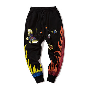 BUTTERFLY PRINTED JOGGERS