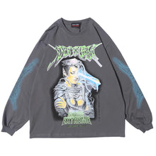 "Load image into Gallery viewer, ""FUTURE SOLDIER"" GRAFFITI SWEATSHIRT"