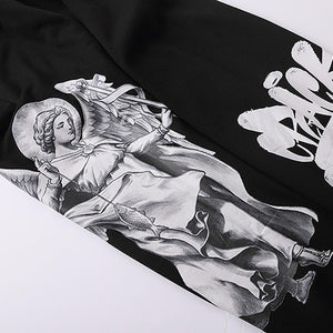 """FISHING ANGEL"" GRAFFITI PRINTED JOGGERS"