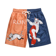 "Load image into Gallery viewer, ""RUN"" PRINTED SHORTS"
