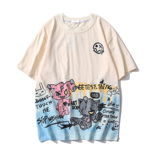 """BEAR DOLL"" GRAFFITI T-SHIRT"