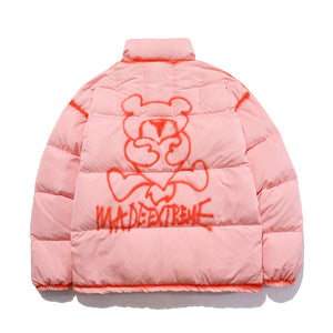 """LOVE BEAR"" PRINTED DOWN JACKET"
