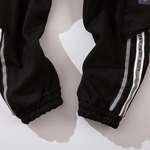 Load image into Gallery viewer, REFLECTIVE STRIPS SUEDE JOGGERS