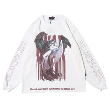 "Load image into Gallery viewer, ""SKULL & ANGEL"" GRAFFITI SWEATSHIRT"