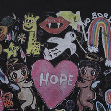 "Load image into Gallery viewer, ""HOPE"" CARTOON GRAFFITI PRINTED T-SHIRT"