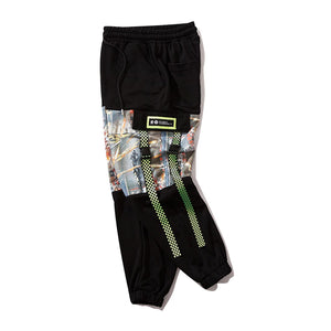 GRID RIBBONS JOGGERS