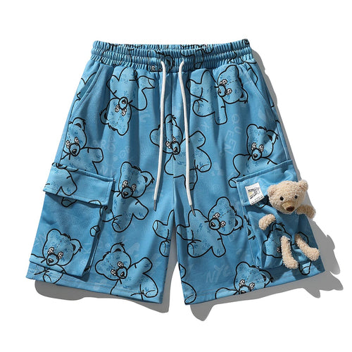 BEAR DOLL BEAR PRINTED CARGO SHORTS