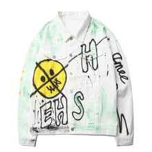 "Load image into Gallery viewer, ""EH"" GRAFFITI DENIM JACKET"