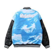 Load image into Gallery viewer, BLUE SKY PRINTED VARSITY JACKET