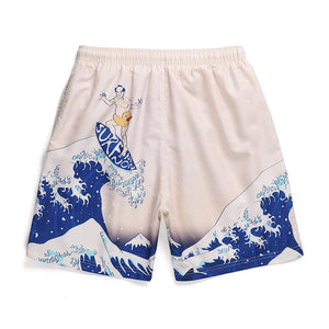 """SURFING"" PRINTED SHORTS"
