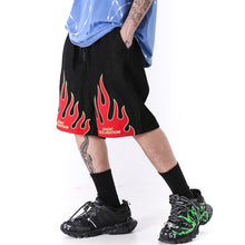 Load image into Gallery viewer, FLAME PRINTED SHORTS