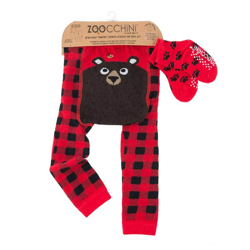 Legging & Sock Set Zoocchini  Bosley the Bear
